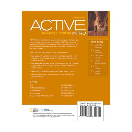 Active Skills for Reading 0 Intro 3rd Edition - BackCover