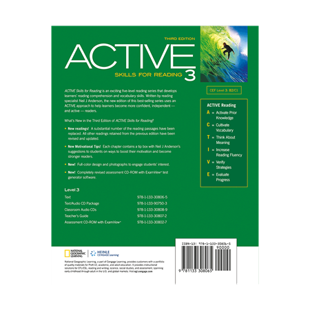 Active Skills for Reading 3 3rd Edition - BackCover
