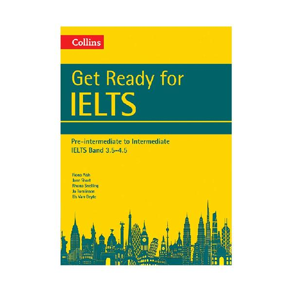 خرید کتاب Get Ready for IELTS (SB+WB+CD)Band 3.5-4.5