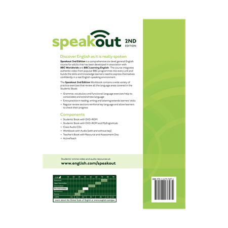 Speakout Pre Intermediate Workbook 2nd Edition     BackCover
