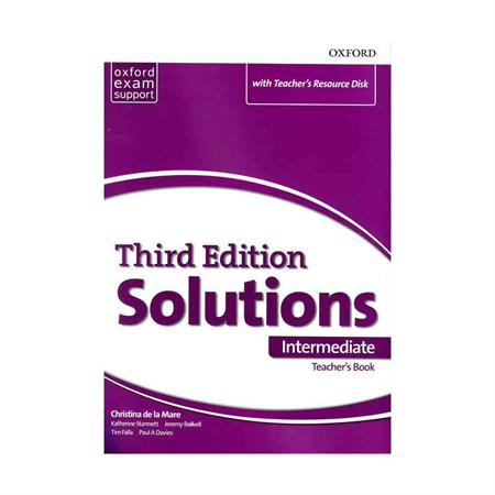 خرید کتاب Teacher's Book Solutions Intermediate 3rd +CD
