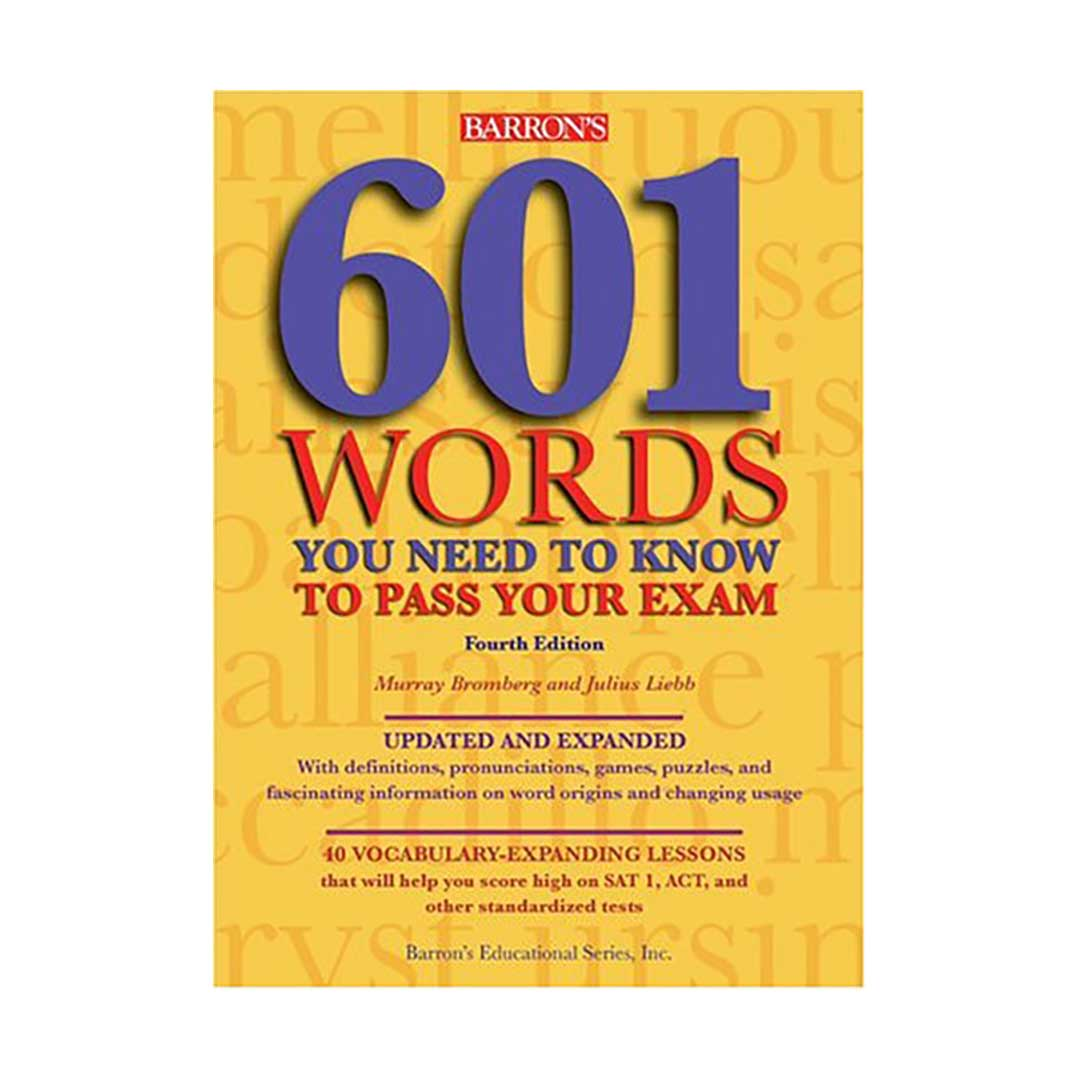 خرید کتاب 601Words You Need to Know to Pass Your Exam fourth edition
