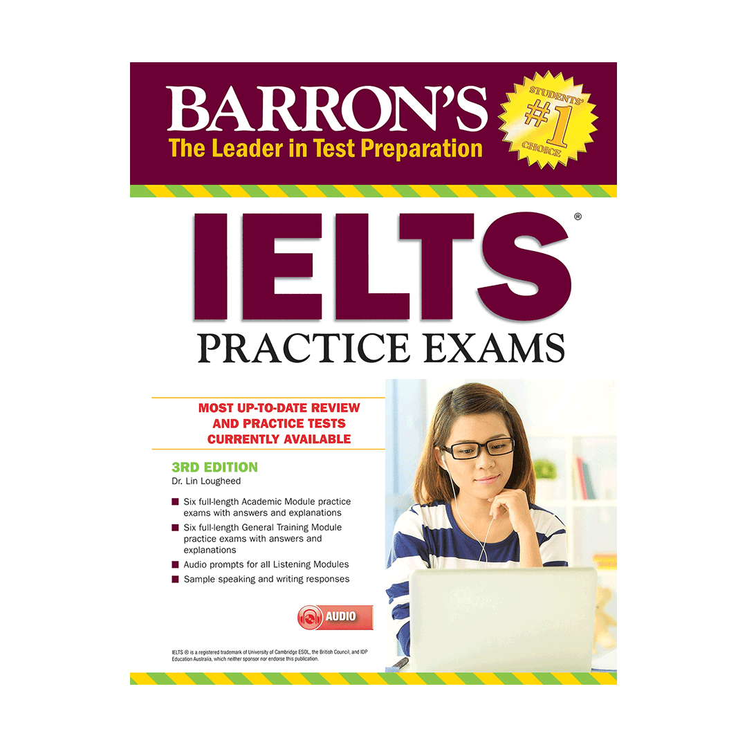 خرید کتاب Barrons IELTS Practice Exams 3rd+CD