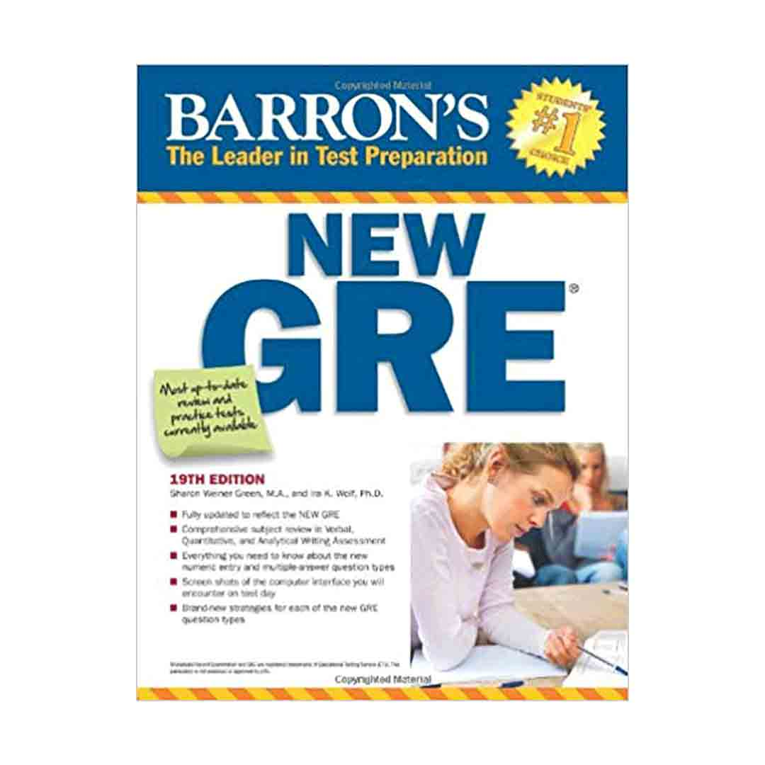 Barrons New GRE 19th Edition English GRE Book