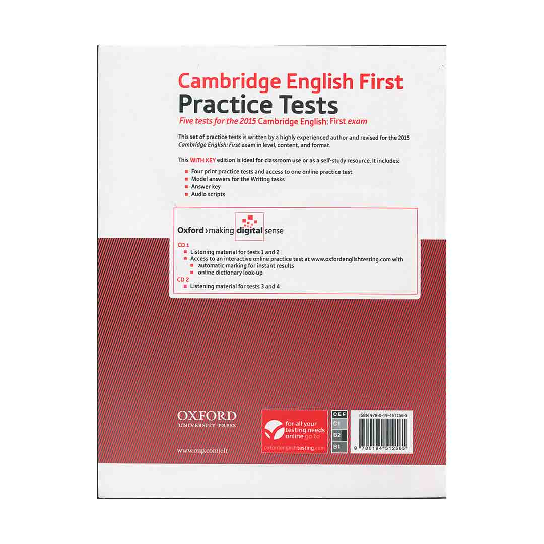 Cambridge English First Practice Tests-CD English Book