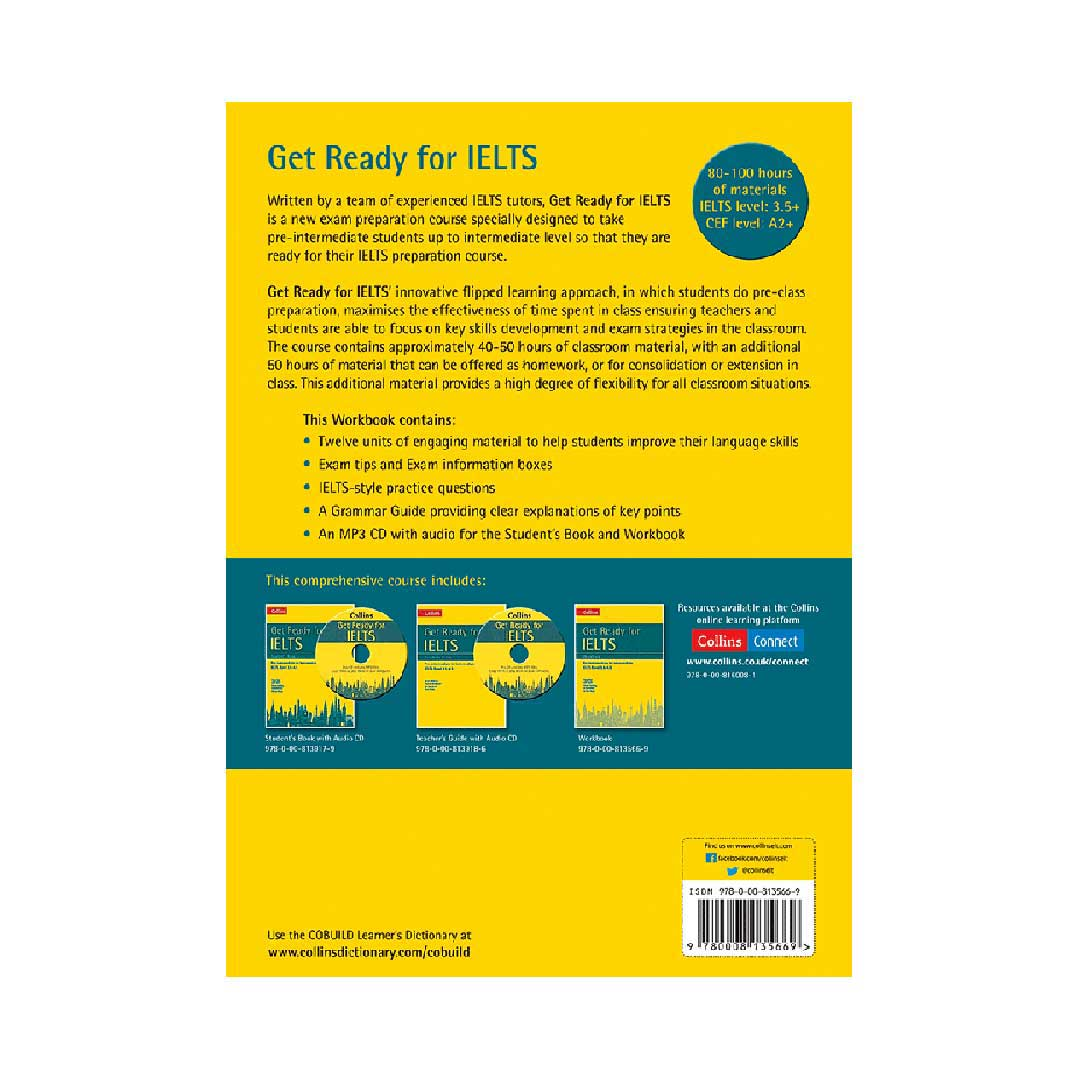 Workbook Collins English for IELTS Get Ready for IELTS IELTS 3.5+ A2+